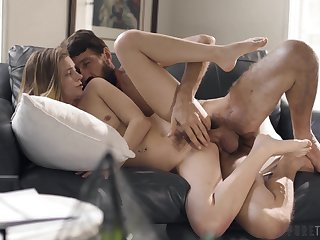 Well-bred young hottie Riley Fame gets their way cunt plunged hard