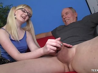 Slutty young whore wants this old male's huge unearth in her ass