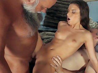 Grandpas Share A Young Teenage